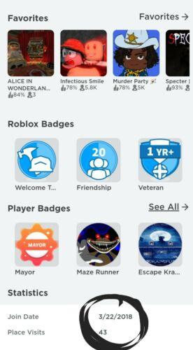 Roblox account read description
