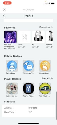 2016 Stacked Roblox Account Many Game Passes And Clothing. User iiomq_braileyii