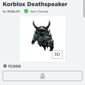 ROBLOX account with playful vampire and Korblox DeathSpeaker read description