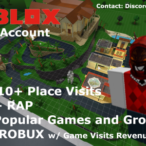2013 ROBLOX ACCOUNT w/ ROBUX,157k+ Place Visits,1.4k+ RAP,Popular Groups & Games